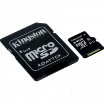 MICROSDHC CARD w ADAPTER 64GB CLASS10 KINGSTON CANVAS SELECT