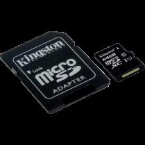 MICROSDHC CARD w ADAPTER 64GB CLASS10 KINGSTON CANVAS SELECT