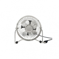 USB METAL DESK FAN SILVER KIKKERLAND