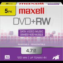 DVD RW MAXELL 4.7GB 4X 5/PACK