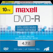 DVD-R MAXELL 16X 4.7GB 10/PACK 635045 638004