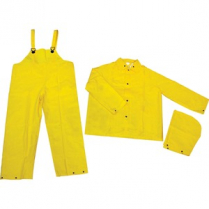 MCR SAFETY RAINSUIT YLW MED 3PC (JACKET/HOOD/BIB PANTS)
