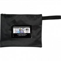 "DEPOSIT POUCH 12x9-1/2"" BLACK WITH WINDOW"