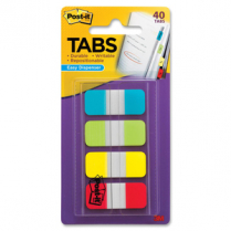 POST-IT TABS 5/8x1.5 4 ASSORTED COL