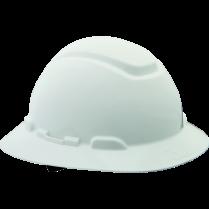 3M NON-VENTED RATCHET HARD HAT WHITE FULL BRIM