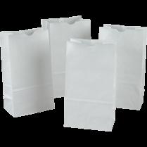 BAGS PAPER WHITE 100/PACKG 72020 L1365-00