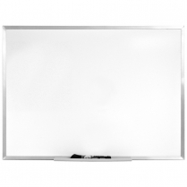 DRY ERASE BOARD 18x24 SILVER MAGNETIC QUARTET ARC
