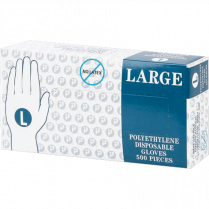 RALSTON DISPOSABLE POLY GLOVES LARGE 100/BOX