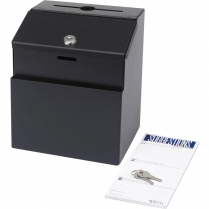 SUGGESTION BOX METAL BLACK