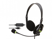 STEREO HEADSET W/ MICROPHONE USB PC/MAC NOISE CANCELLING
