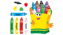 BULLETIN SET COLOURFUL CRAYONS T8076 L9642-00