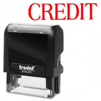 S-PRINTY STAMP LARGE CREDIT RED INK