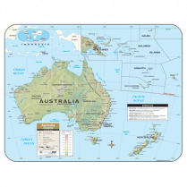 WALL MAP AUSTRALIA SHADED REL LAM ROLLED 28428 L0437-00