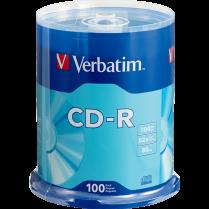 CD-R VERBATIM 52X 100/SPINDLE 80MIN 700MB