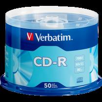 CD-R VERBATIM 52X 80MIN 50/SPI