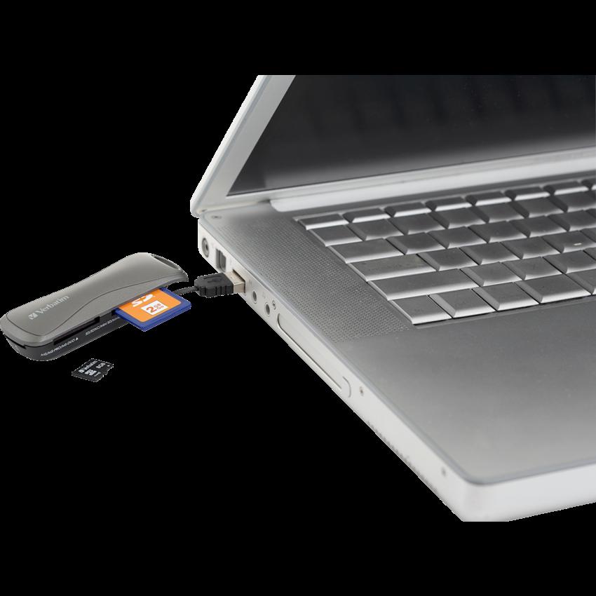 POCKET CARD READER W/USB CABLE VERBATIM