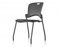 CAPER STACKING CHAIR BLACK