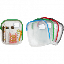 """BACKPACK POUCH 10-1/2x12-1/4"""" ZIPPERED ASSORTED"""