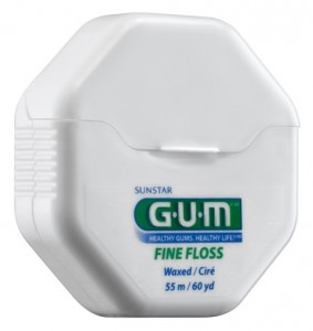 G.U.M FINE, WAXED, DENTAL FLOSS 54.8M