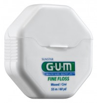 G.U.M FINE, WAXED, DENTAL FLOSS 54.8M