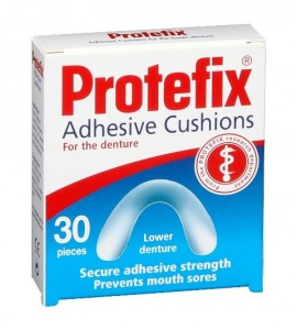PROTEFIX ADHESIVE CUSHIONS FOR LOWER DENTURES 30PCS