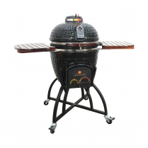 BLACK ICON KAMADO WITH OVERSIZE CART