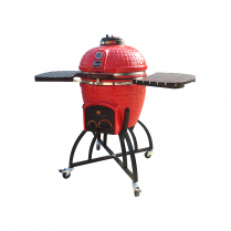RED ICON KAMADO WITH OVERSIZE CART