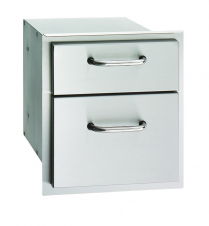 SS DOUBLE STORAGE DRAWER UNIT