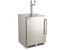 OUTDOOR RATED KEGERATOR WITH LEFT DOOR HINGE