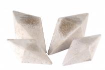 OM--IVORY 4 SIDED DIAMONDS 2 LG/2 SM