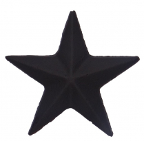 "1-3/4"" CAST STAR, NAIL IN - BLACK"