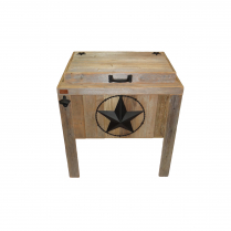 SINGLE COOLER-STAR W/BARBED WIRE-BLACK