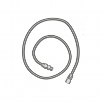 """S.S. Flex Hose 36"""" - 3/8"""" Female Flares with Adapters"""