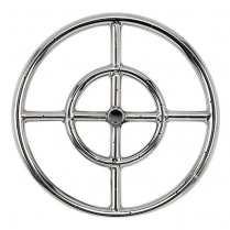 """12"""" Double-Ring SS Burner with a 1/2"""" Inlet"""