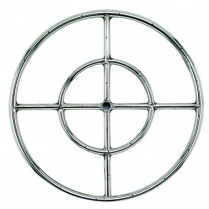 """18"""" Double-Ring SS Burner with a 1/2"""" Inlet"""