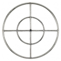 """24"""" Double-Ring SS Burner with a 1/2"""" Inlet"""
