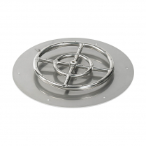 "24"" Round SS Flat Pan w/18"" Fire Ring"