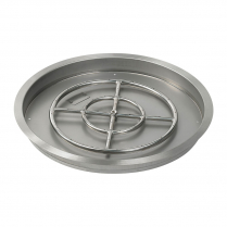 "25"" Round SS Drop-In FirePit Pan w/18"" Fire Ring"