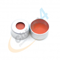 Cap Crimp 8mm Seal Silver CLR FEP/Red Sil