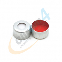 Cap Crimp 8mm Seal Silver Red PTFE/WHT Sil