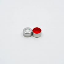 Cap Crimp 8mm Seal Silver Red PTFE/ Sil E-Z Pierce
