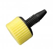 PEEK Fittings Fingertight Soft Grip Yellow Non-Slip Short