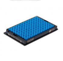 2D Data Matrix Tubes SX300 (µl) blue caps, SBS Rack, SLP
