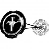 1970-73 Simulated Hub Cap Emblem