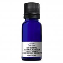 Blue Glass Bottle 15 ml + Black Cap 18 TE/Dropper