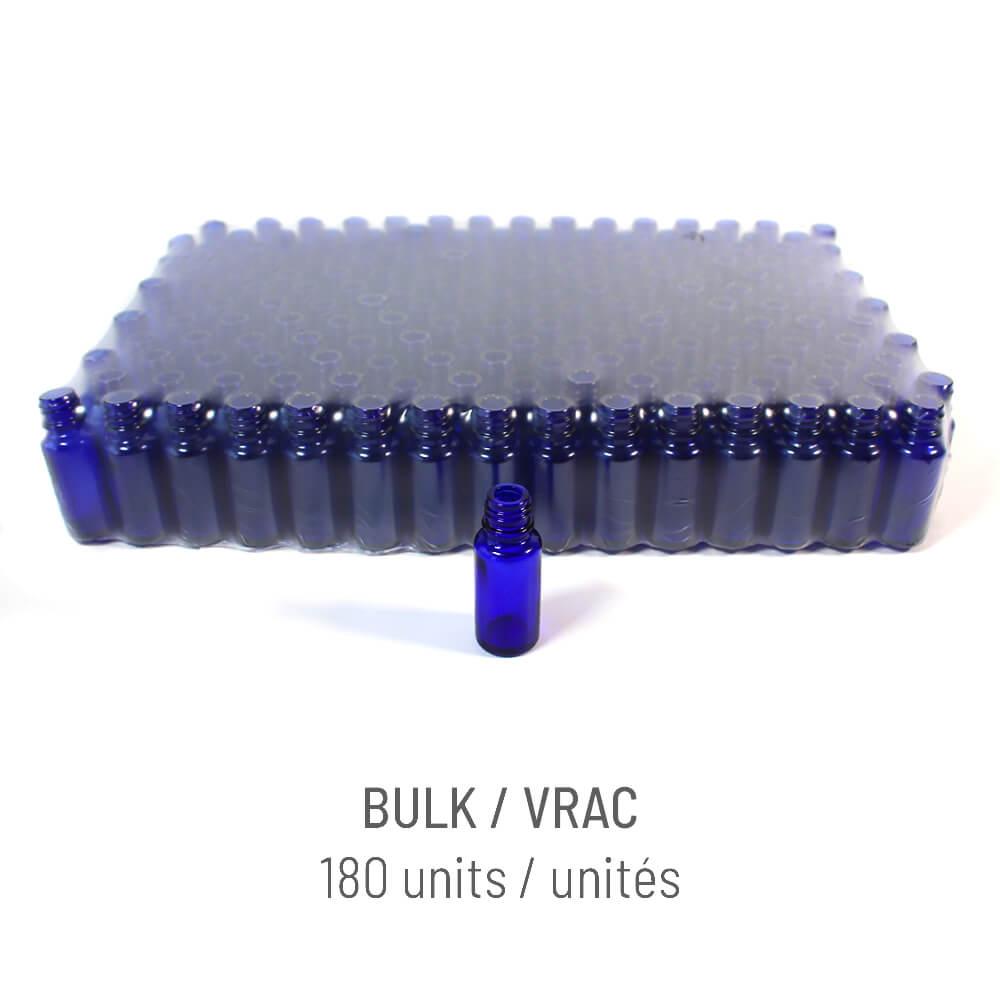 Bouteille verre bleu 15ml + Vaporisateur