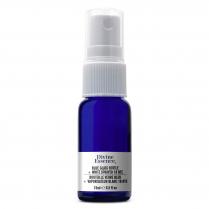 Blue Glass Bottle 15 ml + White Sprayer 18 NTE