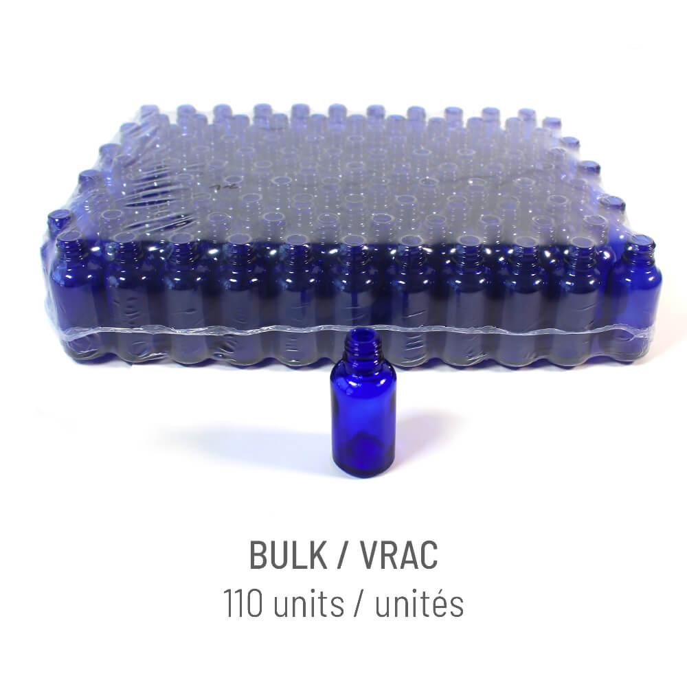 Bouteille verre bleu 30ml + Vaporisateur