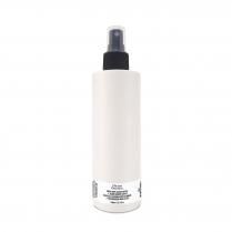 Bouteille plastique HDPE Blanche 250 ml + Vaporisateur Noir