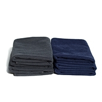 16x24 Shine Glass Microfiber Towel - Navy 150/cse